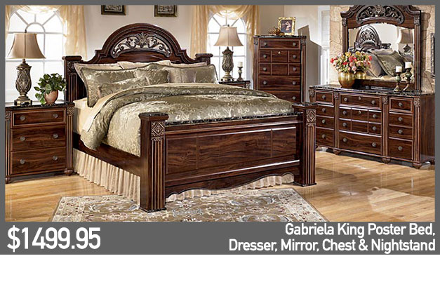 Gabriela King Poster Bed